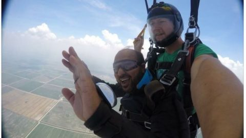 IntaBoro President Celebrates Birthday by Skydiving