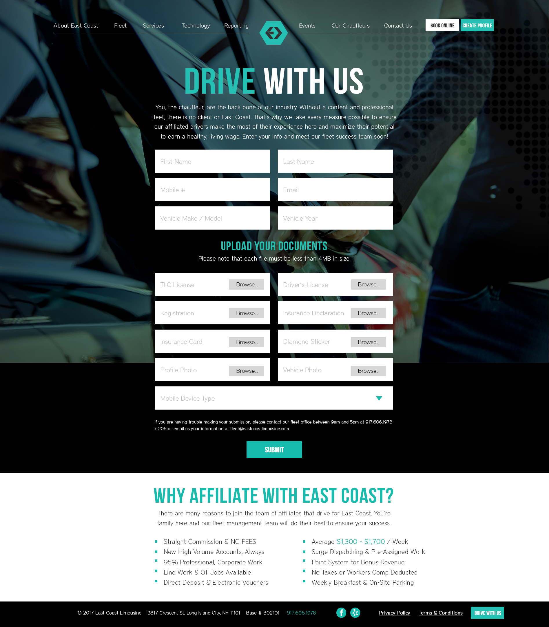 ECL - Web Mock Up - Driver SignUp - Form