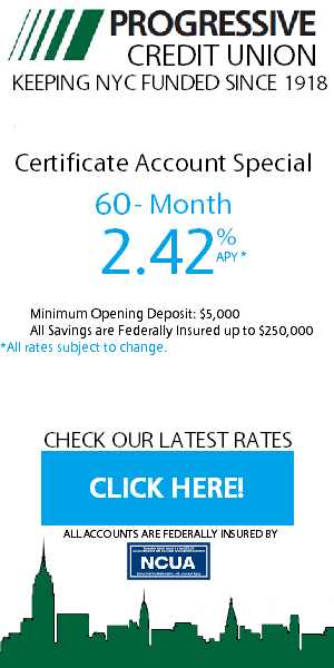PROGRESSIVE CREDIT UNION Rates 300x600