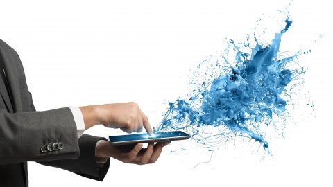 25305431 - concept of creative technology with businessman and tablet